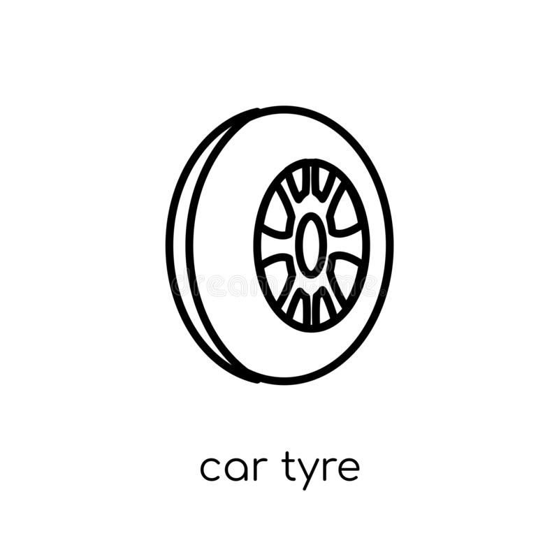car tyre icon from Car parts collection. vector illustration