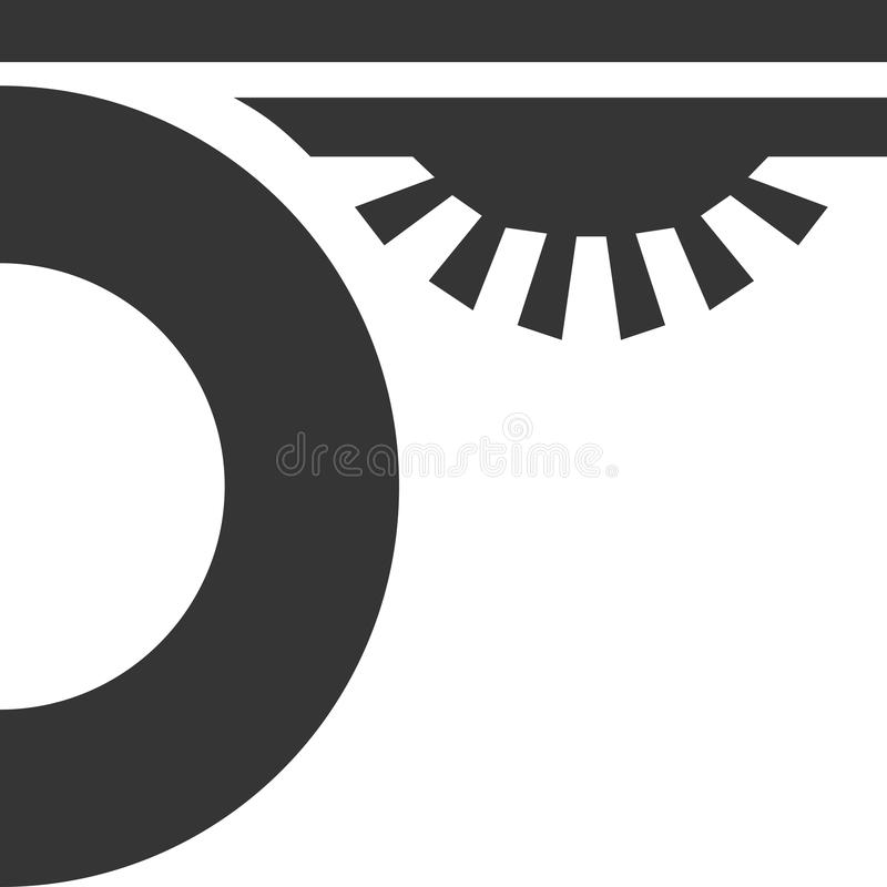 Car Under Glow - LED Light Symbol Stock Vector - Illustration of ...