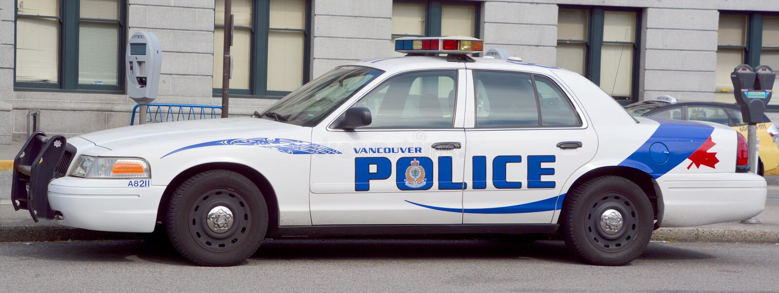 Car of the Vancouver Police Department. VANCOUVER BC CANADA JUNE 10 2015: Car of the Vancouver Police Department (VPD) is the police force for the City of royalty free stock photo