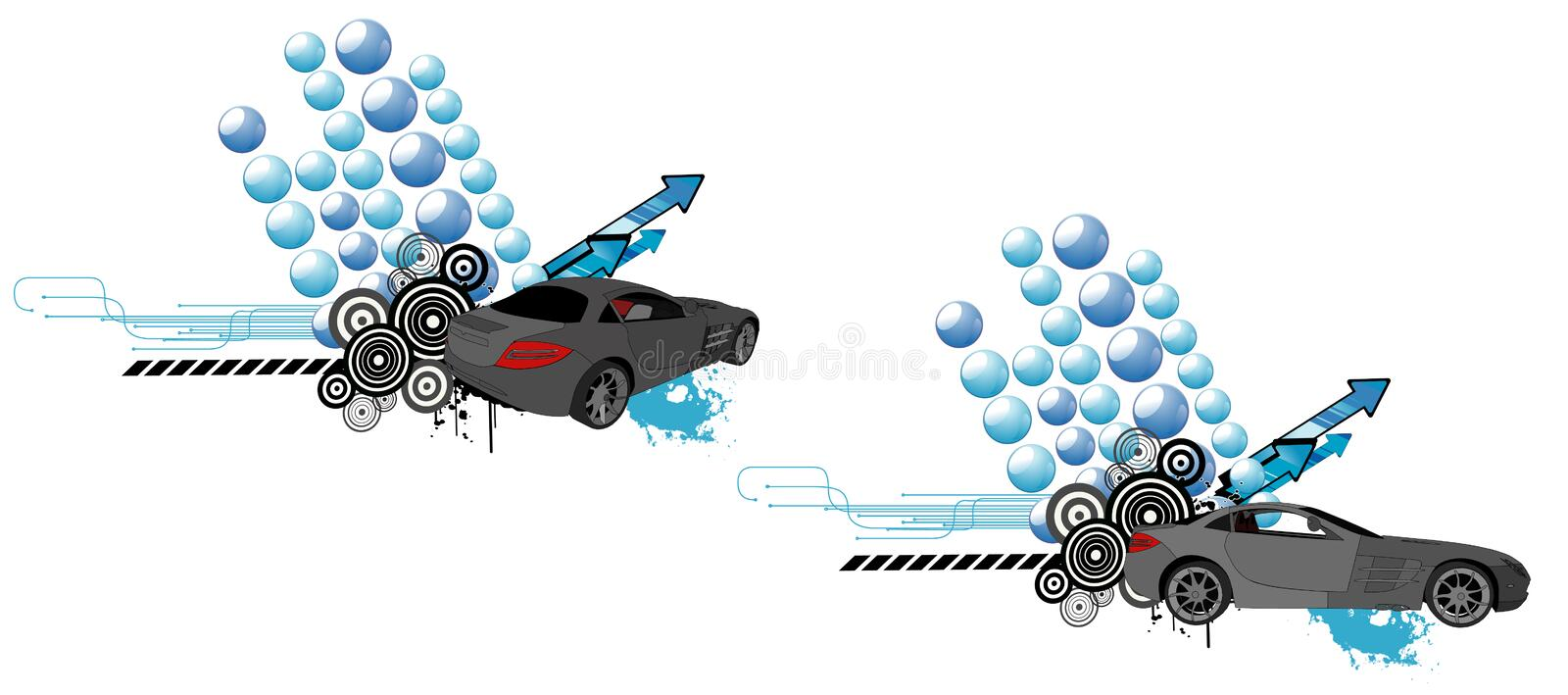 Car vector composition vector illustration