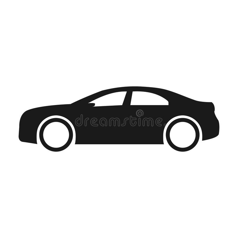 car vector icon isolated simple side car logo illustration stock vector illustration of. Black Bedroom Furniture Sets. Home Design Ideas