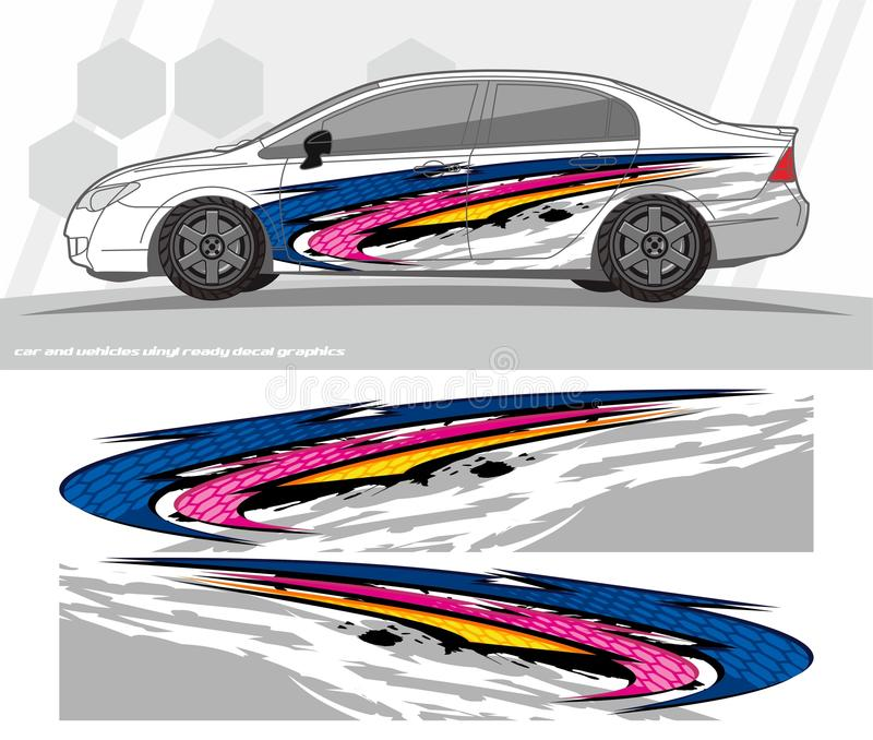 Download car and vehicles wrap decal graphics kit designs ready to print and cut for