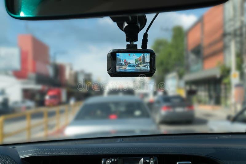 Car video recorder stock photography