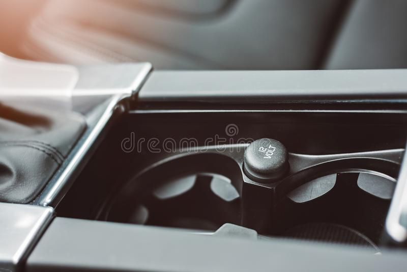 Car 12 volt outlet. royalty free stock photo