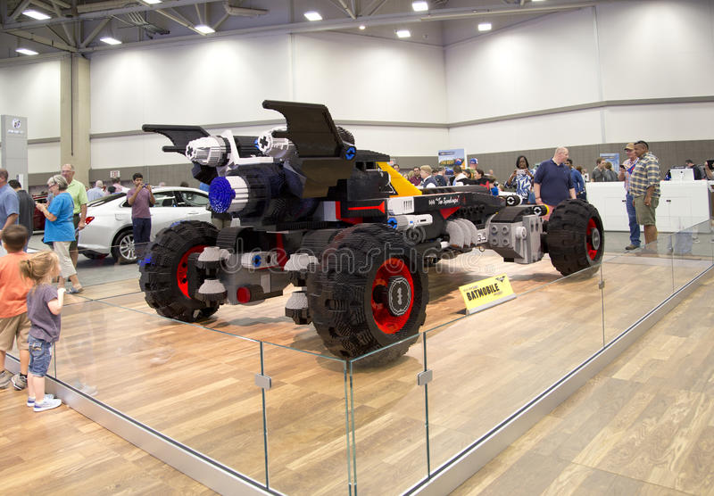 CHEVROLET car was build with Lego in Auto show. CHEVROLET car was build with Lego in Dallas springtime Auto show 2017, TX USA royalty free stock image