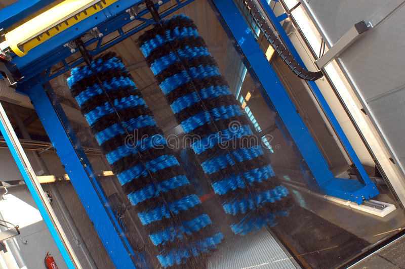 Download Car Wash Brushes stock image. Image of cleaner, striped - 1601743