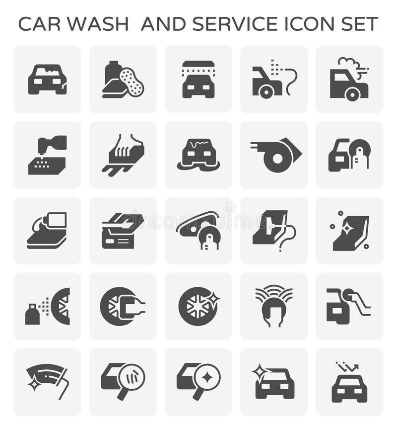 Car wash icon. Car wash and service icon set stock illustration