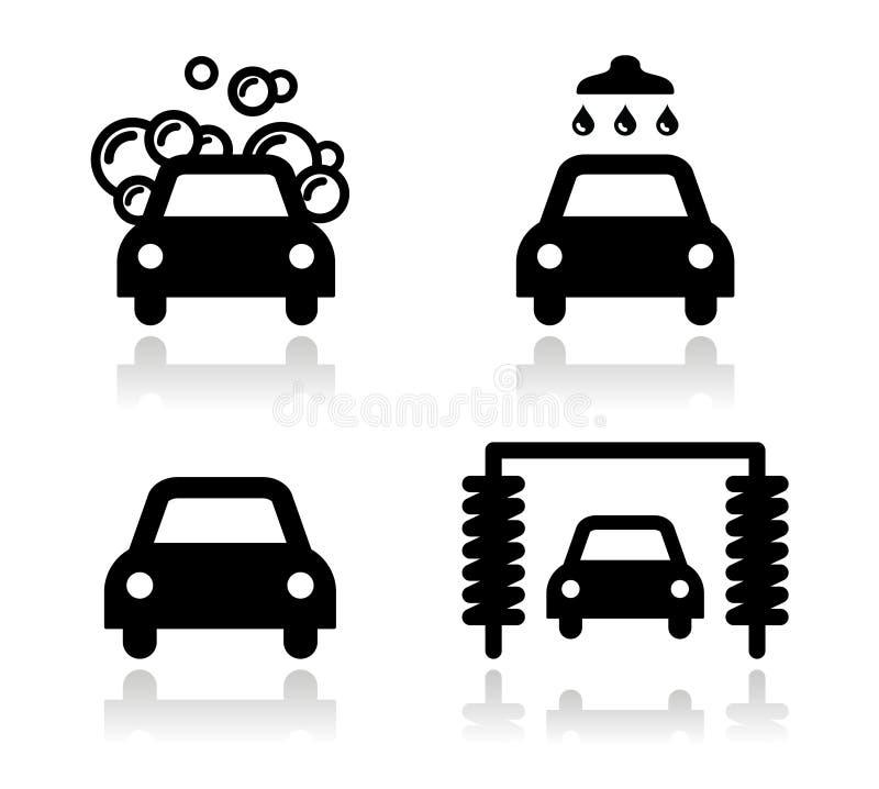 Download Car wash icons set - stock illustration. Illustration of liquid - 28894547