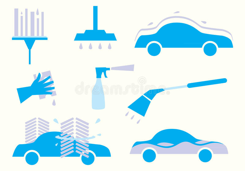 Car wash illustration stock illustration