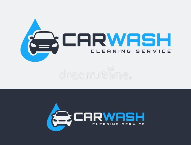 Car wash logos. stock illustration