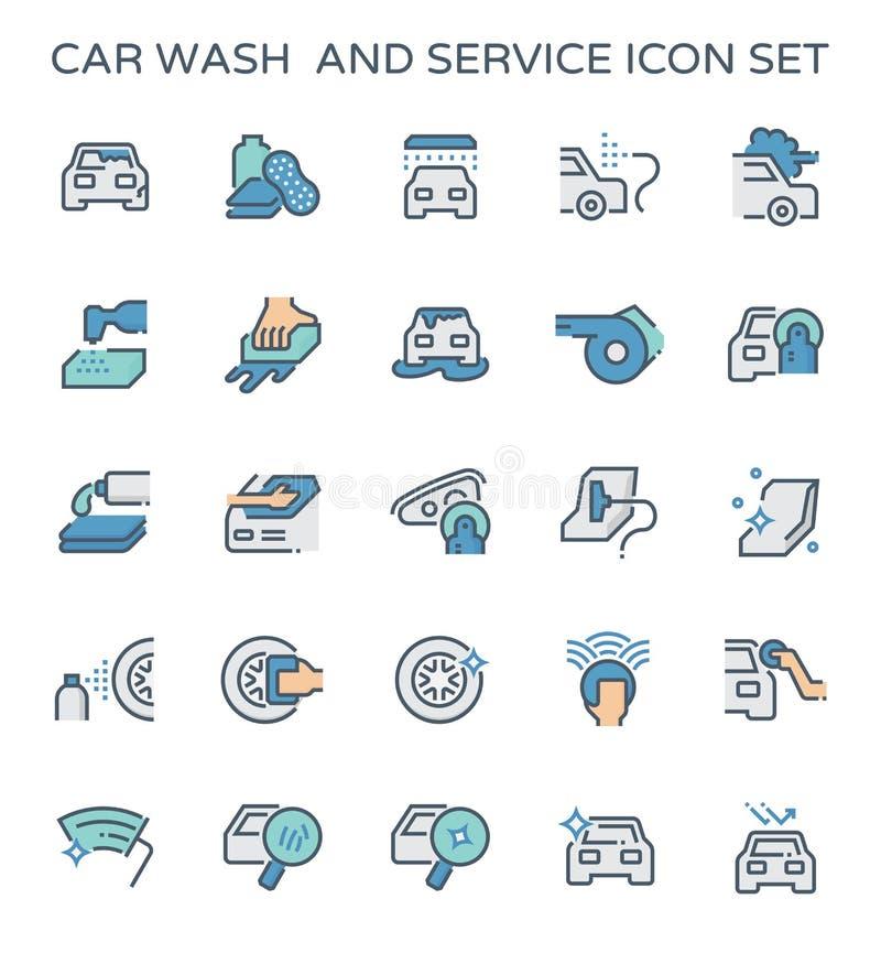 Car wash icon royalty free illustration