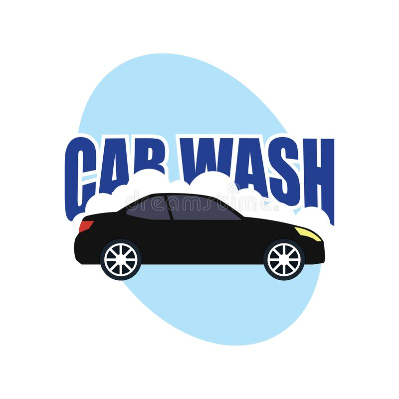 Car wash service logo isolated on white background vector illustration