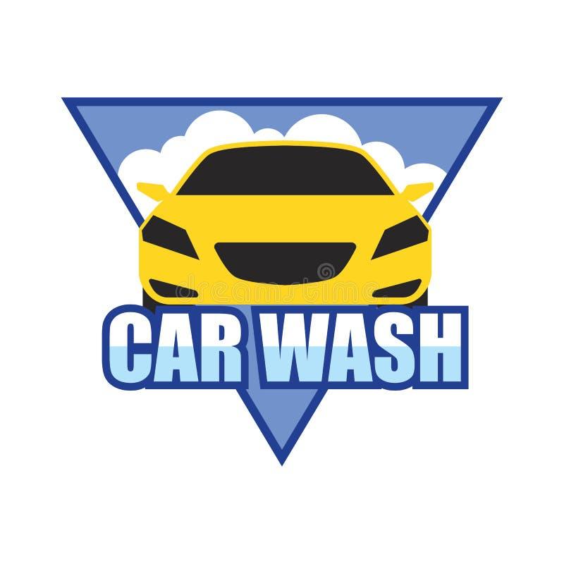 Car wash service logo isolated on white background. Vector illustration royalty free illustration