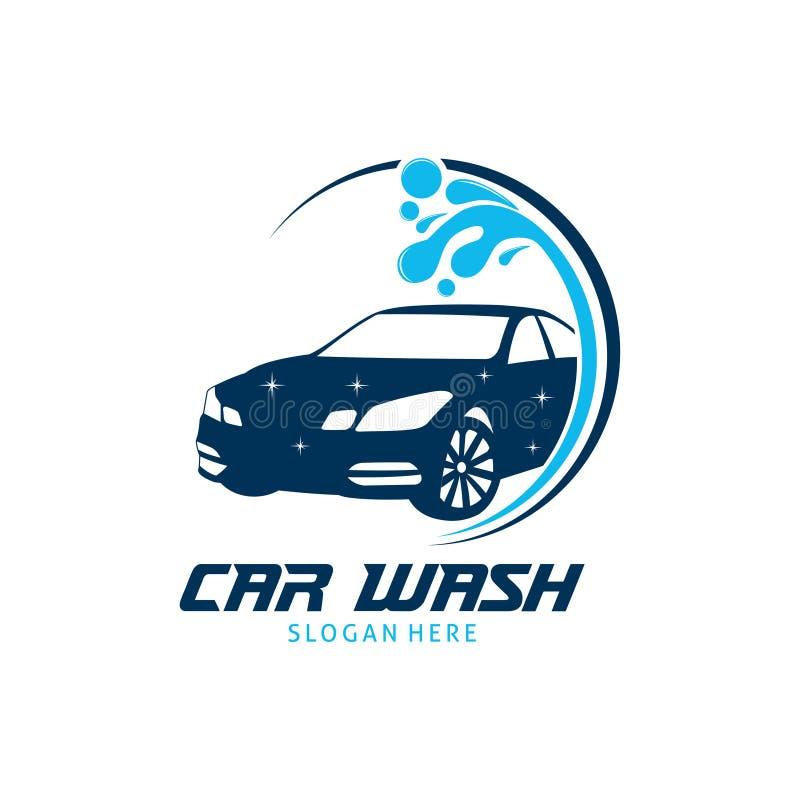 Car wash service vector logo design inspiration or illustration. Car wash service vector logo design template inspiration or illustration stock illustration