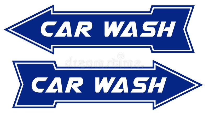 Car Wash Sign Arrow Pointing Way royalty free illustration