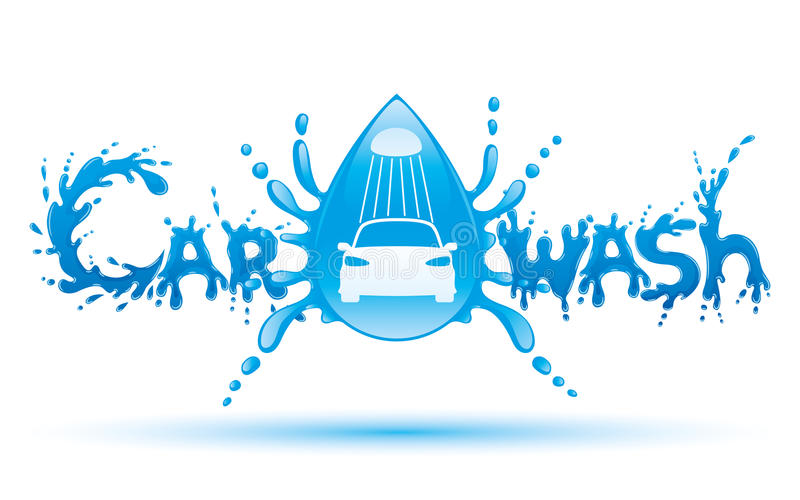 Car wash sign. vector illustration