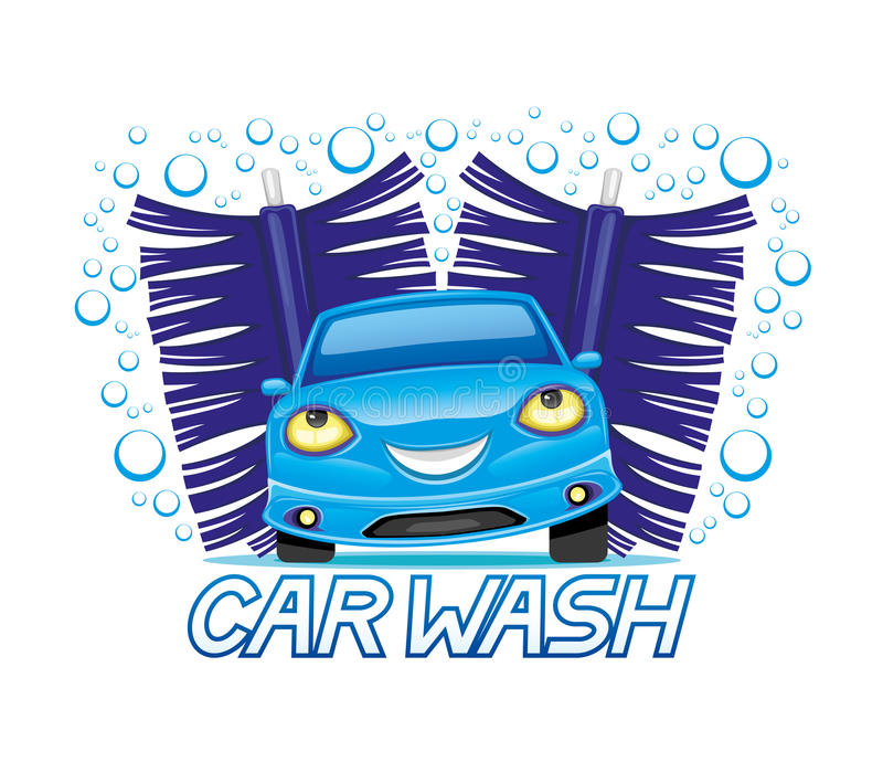 Car wash sign. Car wash sign on a white background vector illustration