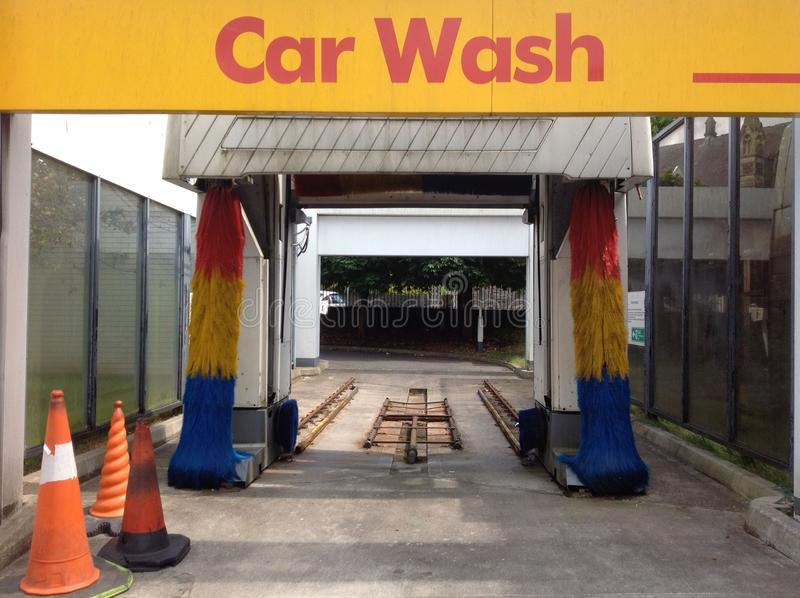 Car Wash Signed Cleared royalty free stock photography