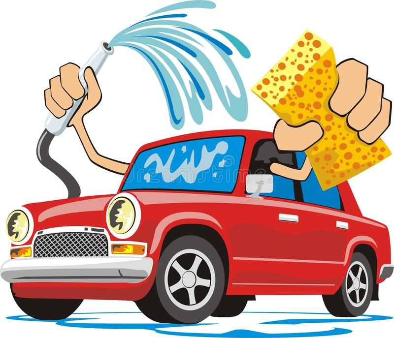 Car washing stock illustration