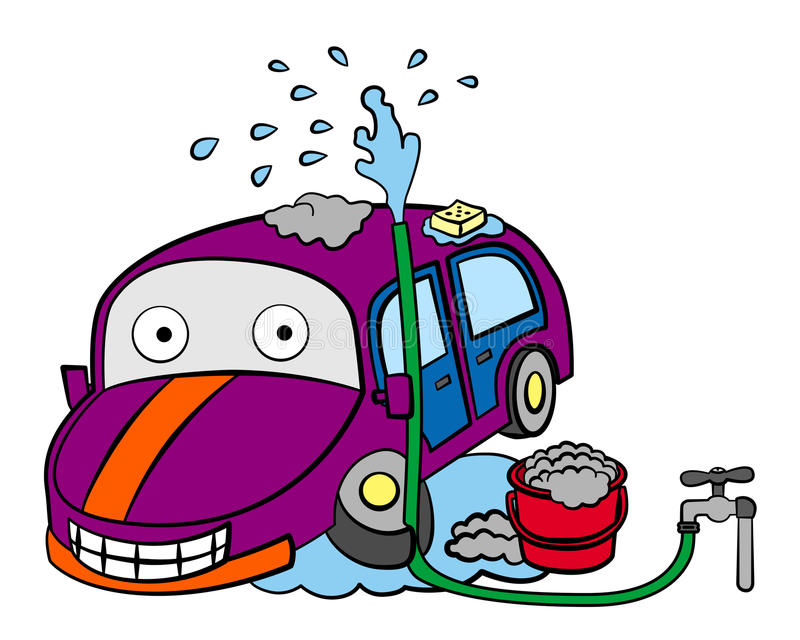 Car washing royalty free illustration