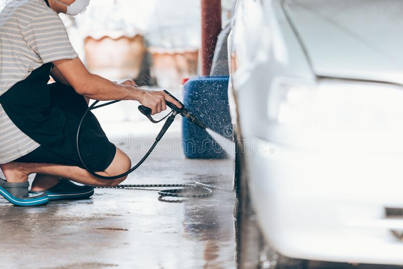 Car washing cleaning stock photos