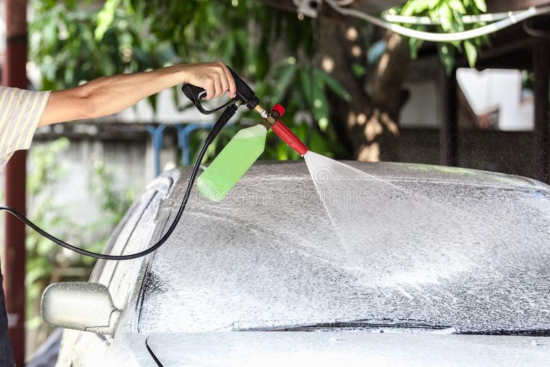 Car washing cleaning royalty free stock photos