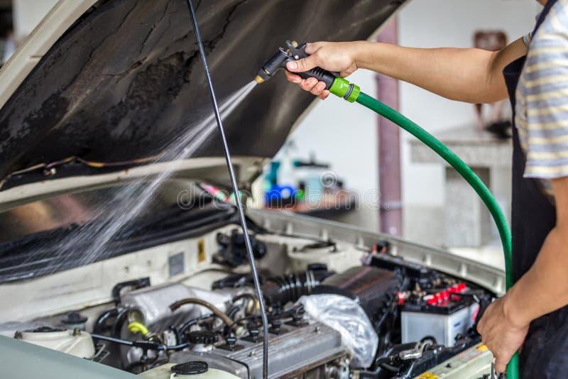 Car washing cleaning stock image