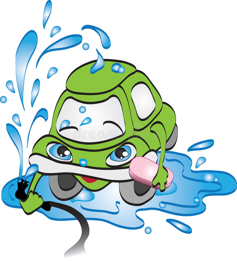 Download Car washing concept. stock vector. Image of wash, smile - 22202516