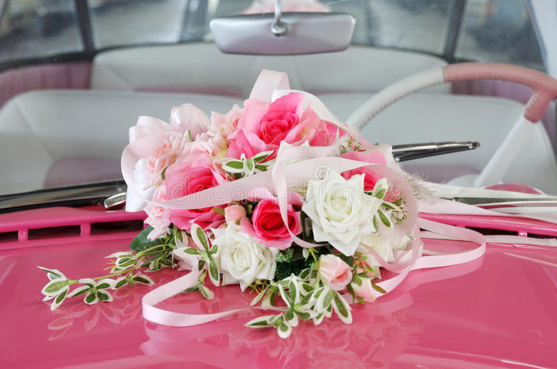 Download Car wedding decoration stock photo. Image of bunch, arrangement - 24855054