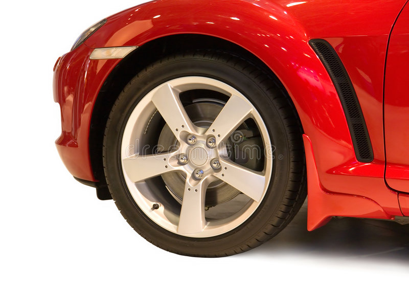 Car wheel. On white. Isolated stock images