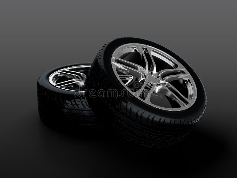 Download Car wheel stock illustration. Illustration of device - 25001617