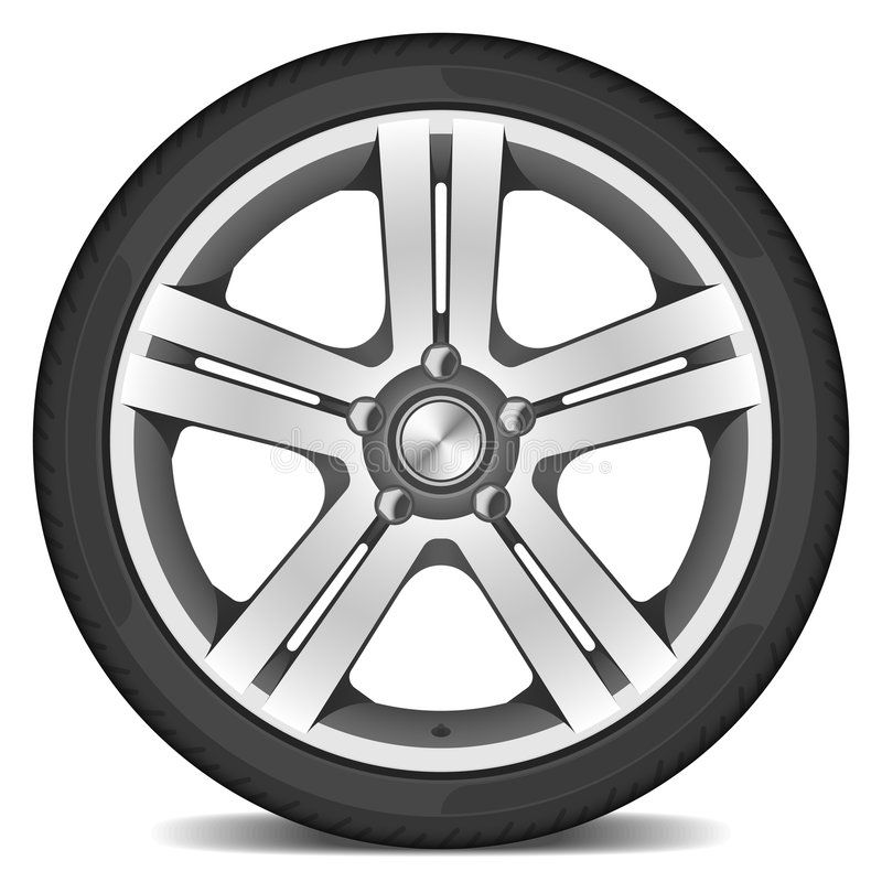 Car wheel stock illustration