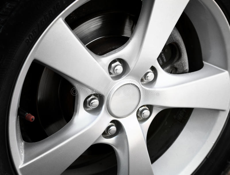 Car wheel. Car alloy wheel close up stock images