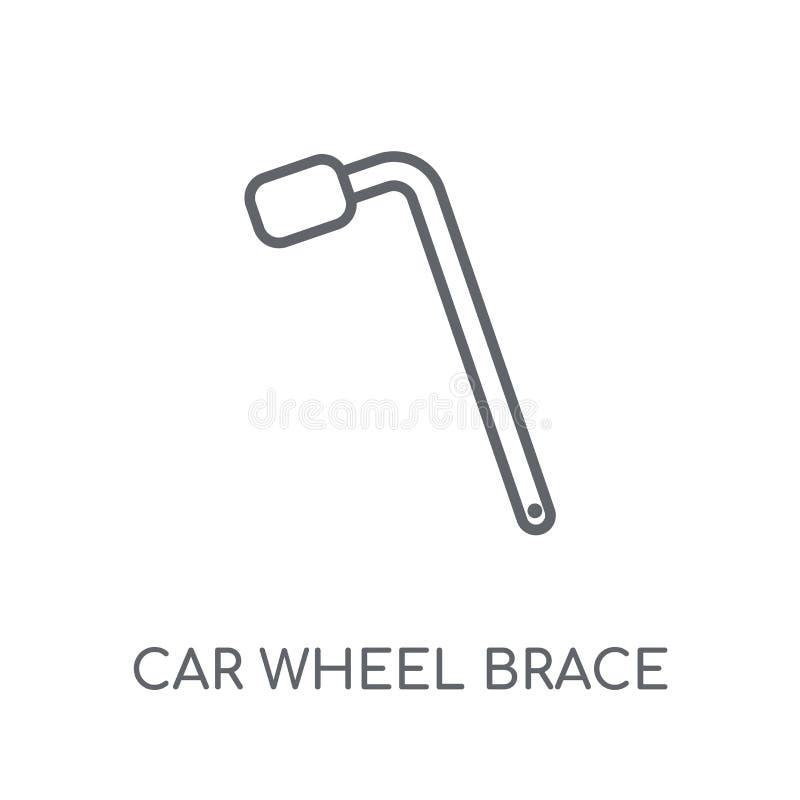 car wheel brace linear icon. Modern outline car wheel brace logo vector illustration