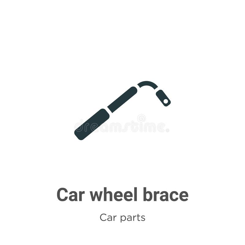 Car wheel brace vector icon on white background. Flat vector car wheel brace icon symbol sign from modern car parts collection for stock illustration