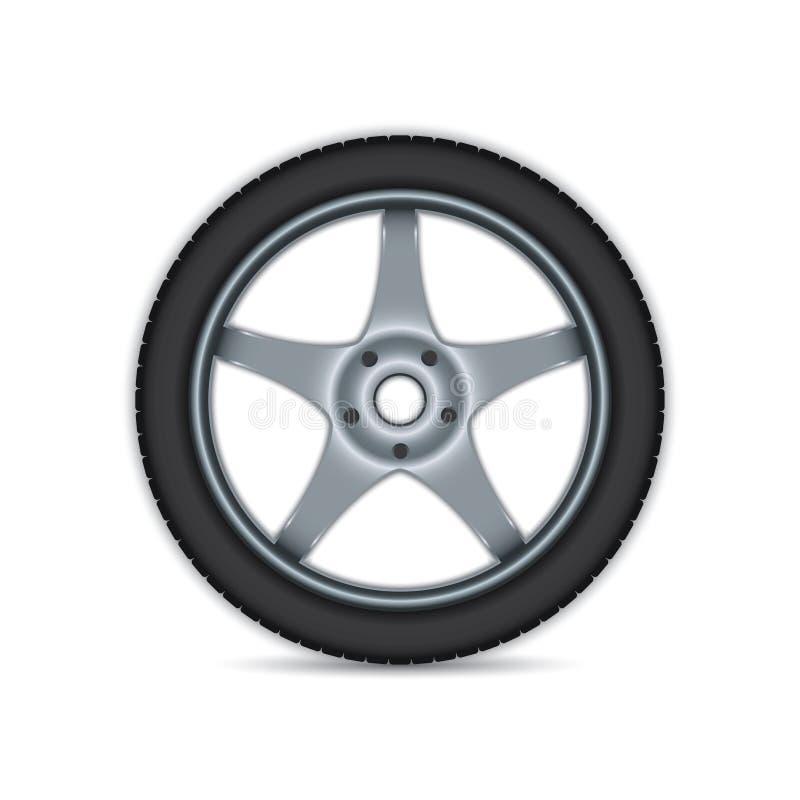 Car wheel vector illustration