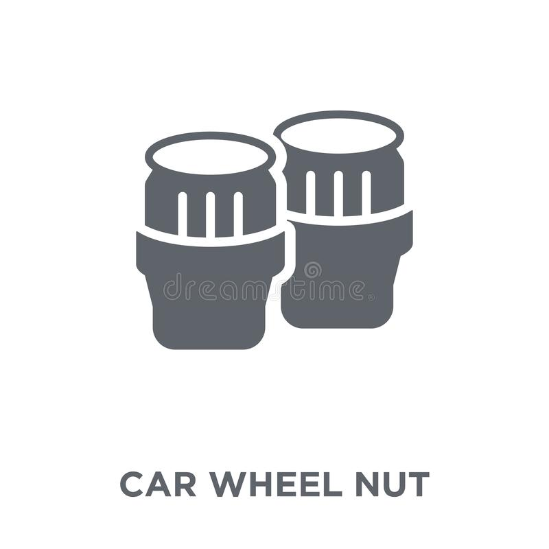 car wheel nut icon from Car parts collection. stock illustration