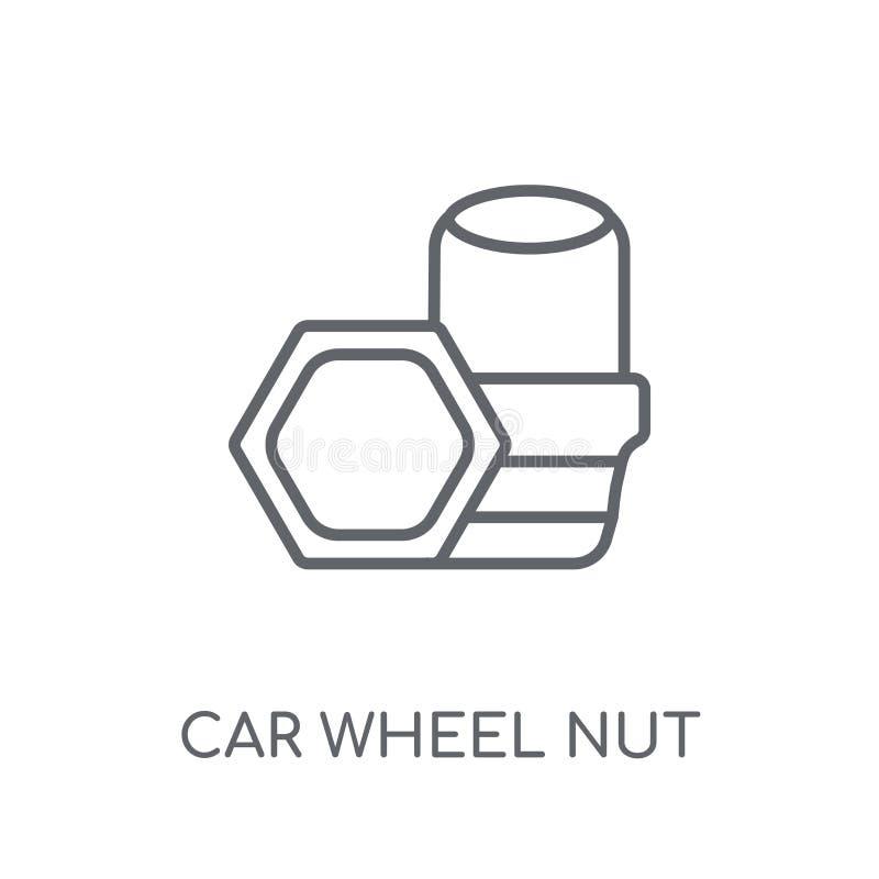 car wheel nut linear icon. Modern outline car wheel nut logo con royalty free illustration