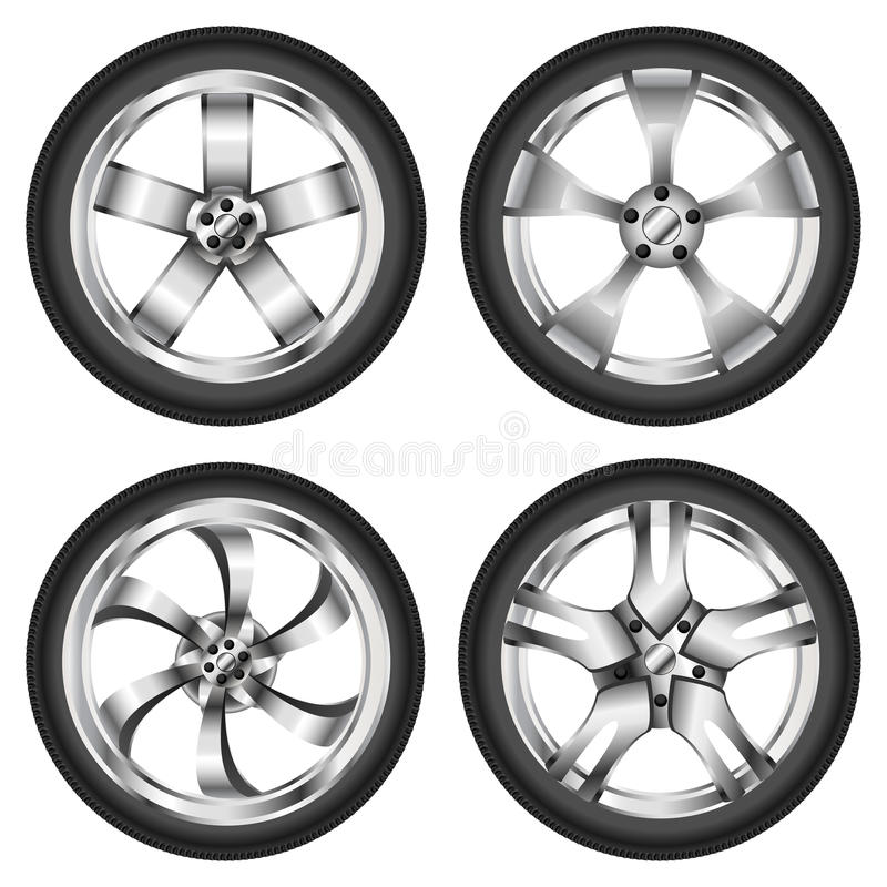 Download Car wheel set stock image. Image of profile, road, shiny - 28119249