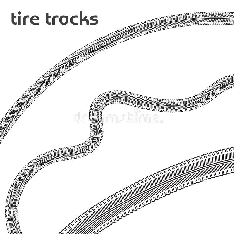 Car wheel tire tracks stock illustration
