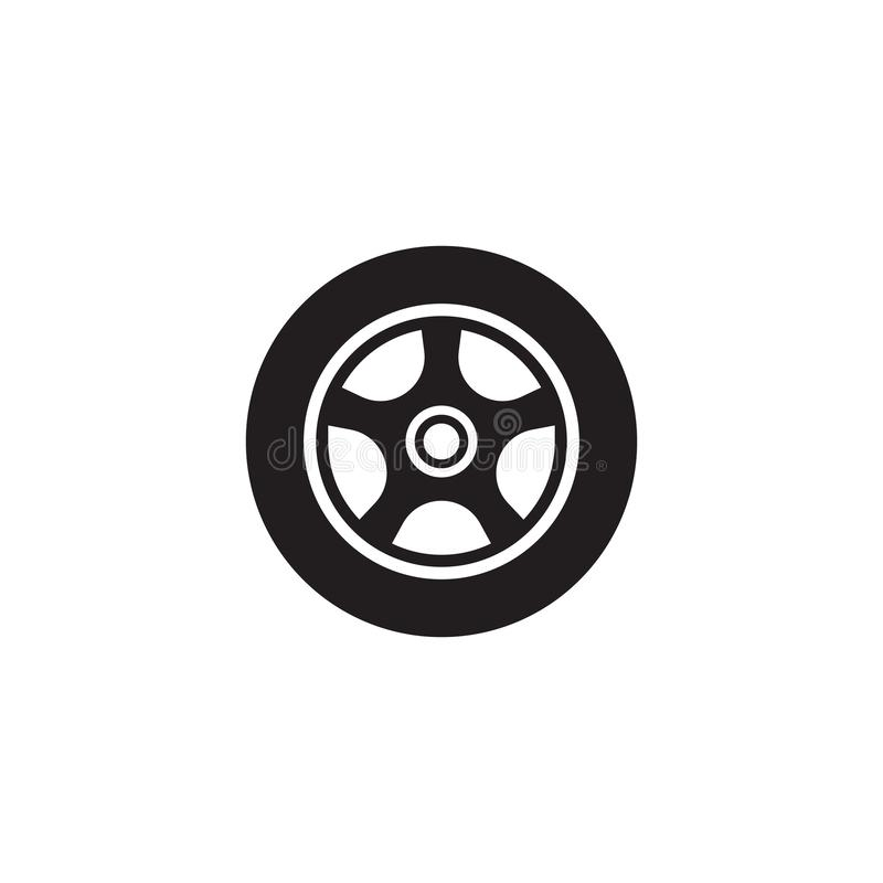 Car wheel vector icon design. Template, circle, illustration, black, tire, logo, rubber, rim, tyre, isolated, object, drive, machine, background, transportation vector illustration