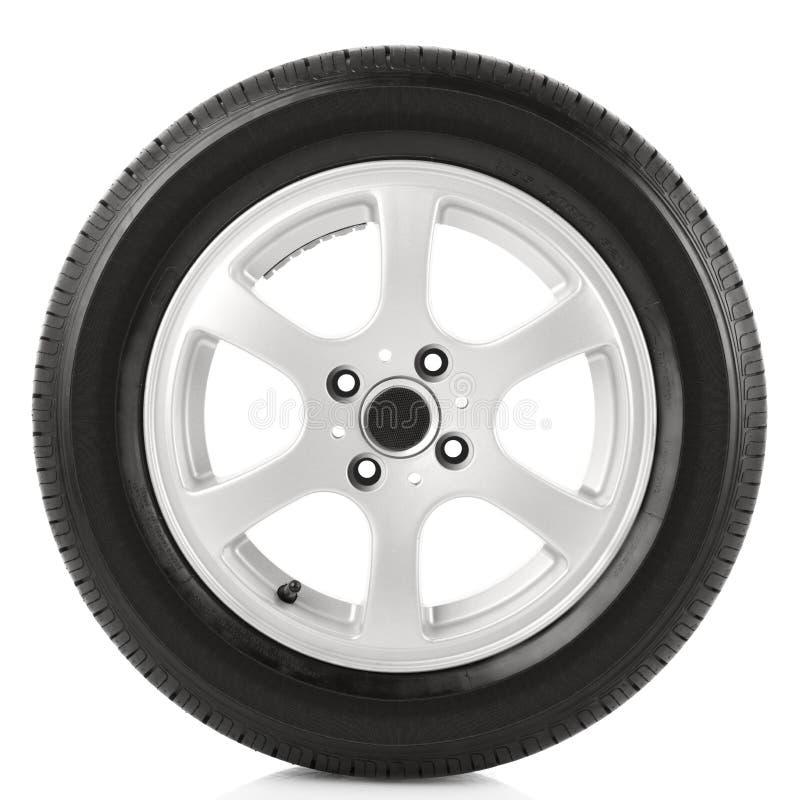 Car wheel. On white background royalty free stock photo