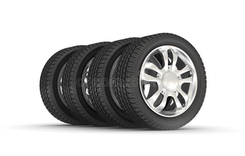 Car Wheels vector illustration