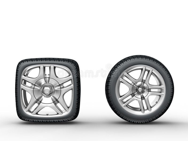 Download Car wheels stock illustration. Illustration of close, dimensional - 5466150