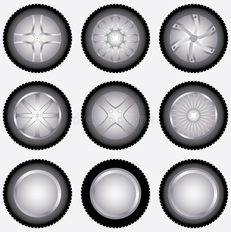 Car wheels set design. For your shop stock illustration