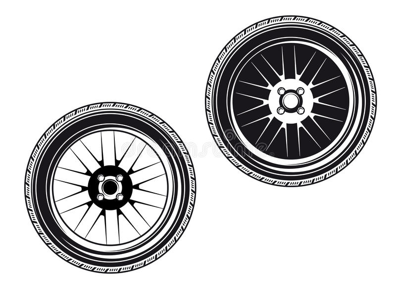 Car Wheels And Tyres Royalty Free Stock Photography
