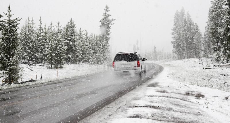 Car on winter royalty free stock images
