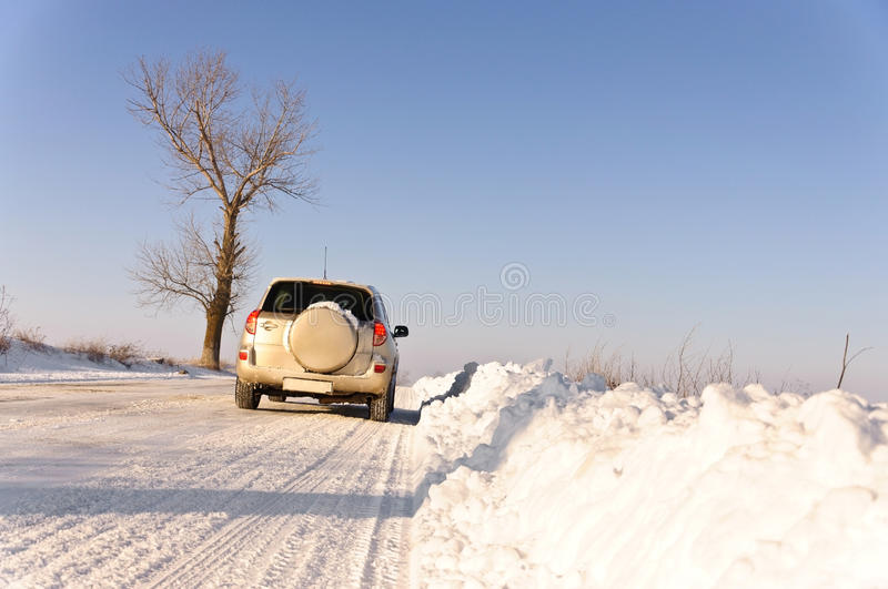 Download Car on winter road stock photo. Image of vertical, winter - 18040618