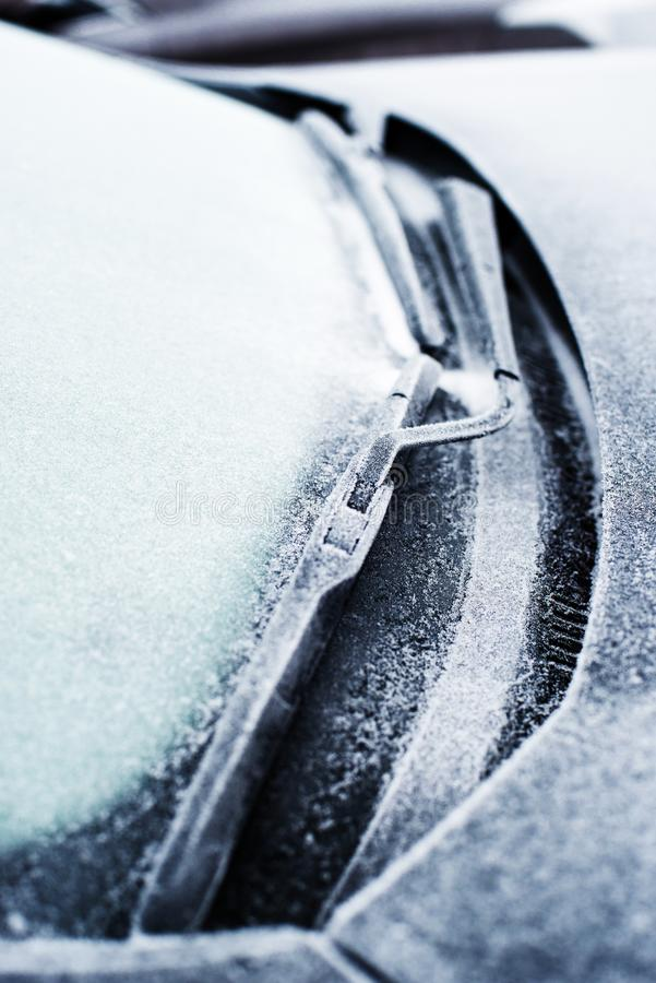 Car wiper blade with shallow depth of field royalty free stock photo