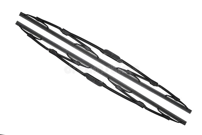 Car wiper blades stock photo